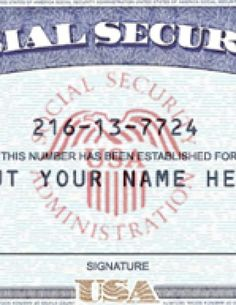 Blank Social Security Card Template Social Security Card Print