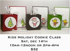 nice people STAMP!: Kid's Holiday Cookie Class, Stampin' Up!