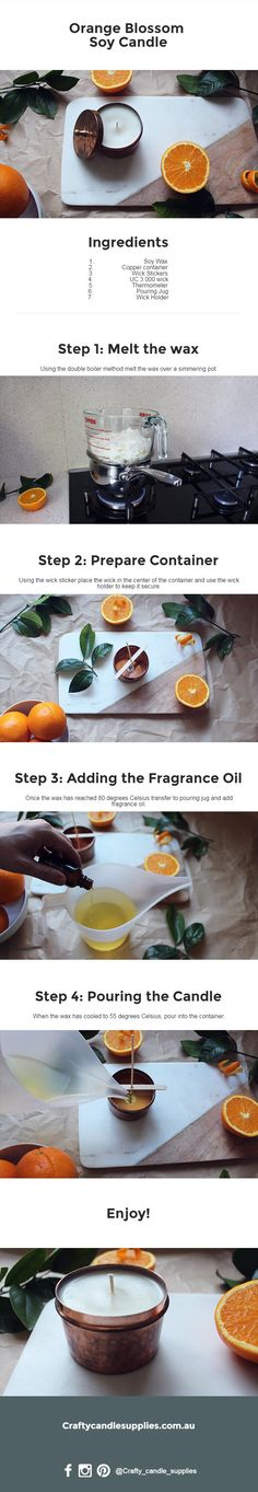How to make an Orange Blossom Soy Candle