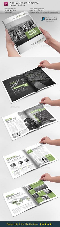 Annual Report 16 Pages Annual reports, Brochures and Indesign - business annual report template