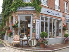 """I could not resist entering this shop. From """"A French day out"""" - Sharon Santoni"""