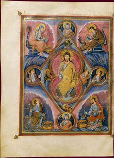 Biblia de Vivien o 1a Biblia de Carles el Calb (845) Crist en majestat més evangelistes i profetes TOURS