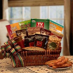 Crosswords and Coffee Gift Basket - Know someone who is feeling a little under the weather, a little blue or they just need a break? This gift basket filled with assorted gourmet coffee and puzzle books is the perfect gift for any occasion. Includes assorted gourmet coffee, snacks and three different styles of puzzle and crossword books. http://bestgiftbasketswithstyle.com/crosswords-and-coffee-gift-basket.html