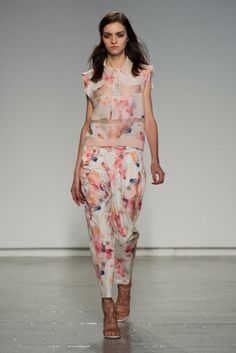 Rebecca Taylor Spring 2014 // Learn how to hand render a floral print http://www.universityoffashion.com/lessons/rendering-floral-print/