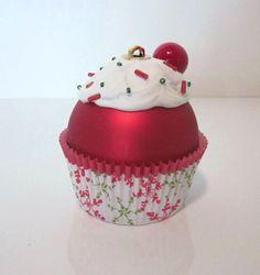 Christmas Ornament Cupcake Ornament by LittlePunkinMunkie on Etsy, $5.00
