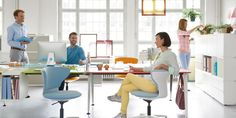 Get Together Desk | Bench desks with modular accessories | Sedus