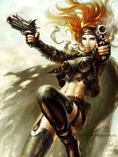 Image from fantasy and syfy..with some cats..NSFW — sekigan:   guns by kir-tat on DeviantArt