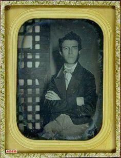 ca. 1855, [Portrait of Passmore Williamson in Moyamensing Prison, Philadelphia, PA. Abolishionist, imprisoned for assisting runaway slave. Visited by Frederick Douglas. Jail door in background.]