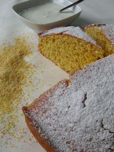 #Torta allo #yogurt con farina di #mais