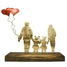 """Δώρο για νέα Μαμά,  """"Μαμά - Μπαμπάς -Δύο Κοριτσάκια"""" Bloom, Baby, Painting, Wedding, Life, Valentines Day Weddings, Painting Art, Paintings, Baby Humor"""