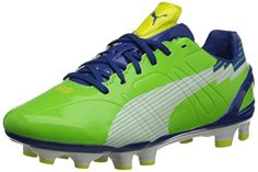PUMA Womens Evospeed 3 FG Soccer CleatJasmine GreenWhiteMonaco Blue9 B US * Find out more about the great product at the image link.(This is an Amazon affiliate link and I receive a commission for the sales)