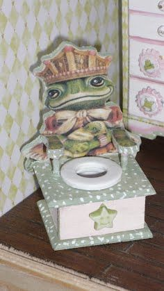 Gorgeous potty for the dolls house nursery