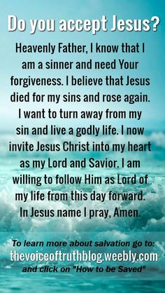 Discover recipes, home ideas, style inspiration and other ideas to try. Romans Bible Study, Sinners Prayer, Salvation Prayer, Jesus Our Savior, Simple Prayers, Prayer And Fasting, Identity In Christ, Prayer Verses, Reminder Quotes