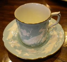 So pretty...Royal Crown Derby 'Chinese Birds' coffee cup --found this set and a yellow set @ goodwill with an extra saucer for $3!