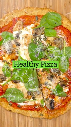 Healthy Pizza, Healthy Cooking, Healthy Snacks, Healthy Eating, Cooking Recipes, Protein Pizza, Comida Diy, Vegetarian Recipes, Healthy Recipes