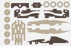 "Matto F1 - Laser, saw, milling machine - 1 cm wooden board - toy ""Luna Edition"""