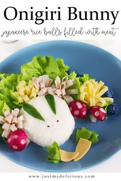 Japanese onigiri bunny filled with meat for kids breakfast, lunch, dinner or supper. Healthy and fit. Breakfast For Kids, Cute Food, Food Styling, Food Art, Food Photography, Bunny, Healthy Fit, Meat, Dinner