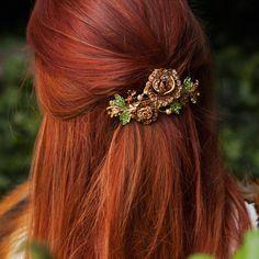 Floral Hair Clip Crystal Hair Clip Large Hair Barrette Crystal