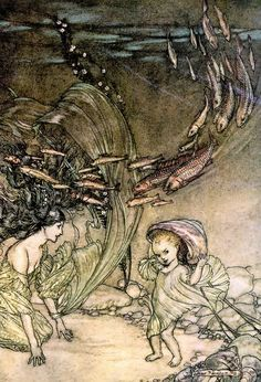 The Infancy of Undine - Undine by de la Motte Fouqué, 1909