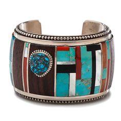 Lawrence Saufkie (Hopi, 1935-2011) Inlaid Cuff