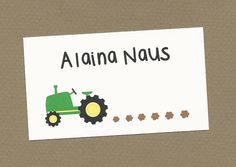 Set of 10 Custom Tractor Calling Cards  Gift by CardsByKooper