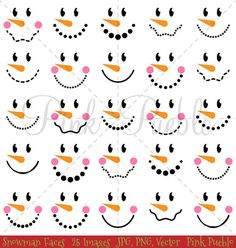 me ~ Snowman Faces Christmas Clipart Clip Art, Snowman Christmas Winter Clip Art Clipart - Commercial Use Wood Snowman, Snowman Faces, Cute Snowman, Snowman Crafts, Snowman Hat, Snowman Wreath, Primitive Christmas, Christmas Snowman, Christmas Crafts