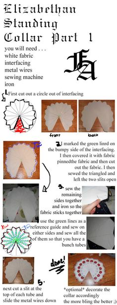 Elizabethan Collar Part 1  •  Free tutorial with pictures on how to make a collar / bib in under 120 minutes