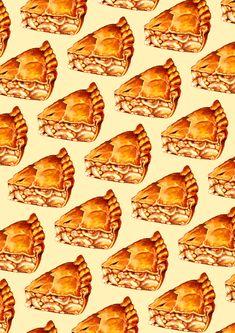 Apple Pie Pattern Art Print by Kelly Gilleran - X-Small Food Patterns, Pretty Patterns, Buy Apple, Apple Pie, Food Wallpaper, Coffeecup, Lock Screens, Buy Frames, Pattern Wallpaper