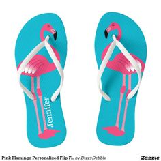 f6229ca8a3b4 Pink Flamingo Personalized Flip Flops -  29.95 Made by In a...  CustomGifts