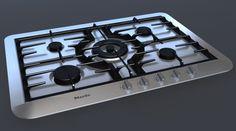 3Ds Max Miele 5 Gas Hob - 3D Model