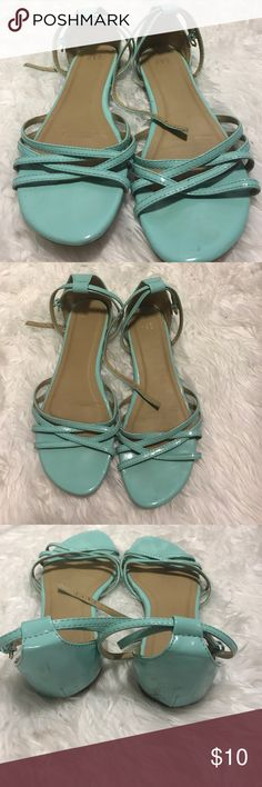 Turquoise GAP sandals Slightly worn as seen in last picture GAP Shoes Sandals
