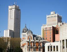 Vistas de la Plaza de España en Madrid.