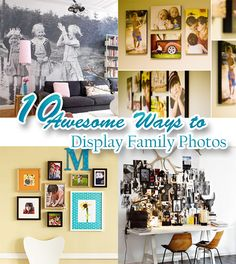 10 Fabulously Funky Ways to Display Your Family Photos