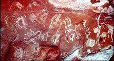 Resultado de imagen para rio pitus argentina pintura rupestre huella de llama