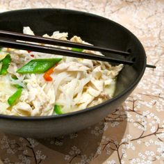 Thai kyllingsuppe Noodles, Grains, Soup, Rice, Chicken, Macaroni, Soups, Noodle, Pasta