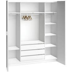 Trendy Sliding Wardrobe Storage Built Ins Ideas Wardrobe Internal Design, Sliding Door Wardrobe Designs, 4 Door Wardrobe, Wardrobe Drawers, Wardrobe Design Bedroom, Diy Wardrobe, Wardrobe Cabinets, Built In Wardrobe, Closet Bedroom