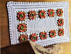 CROCHE COM RECEITA: Tapete em crochê square floral