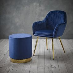 Lara Royal Blue Dining Chair with Gold Legs (pair) – CKHomeLiving Accent Furniture, Dining Furniture, Furniture Sets, Home Furniture, Wooden Furniture, Luxury Dining Chair, Dining Chair Set, Occasional Chairs, Upholstered Dining Chairs