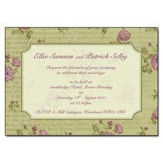 spring wedding invitation