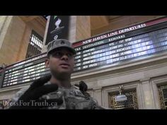 Military Patrolling Grand Central Station in NYC (And He Knows Press For...