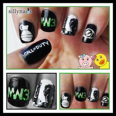 Call of Duty Nails. Better than this girl too