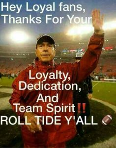 Thank You, Coach Saban, Thank You for Your Loyalty, Your Dedication & Your Team Spirit 😌 Alabama Football Funny, College Football Coaches, Sec Football, Crimson Tide Football, Alabama Crimson Tide, Alabama Coach, University Of Alabama, Nick Saban, We Are The Champions