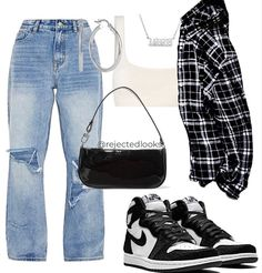 Baddie Outfits Casual, Cute Swag Outfits, Cute Comfy Outfits, Stylish Outfits, Polyvore Outfits Casual, Teen Fashion Outfits, Mode Outfits, Retro Outfits, Look Fashion