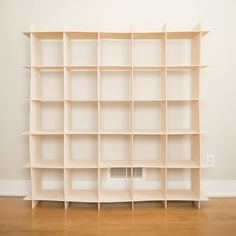 25 Cubby Wave Mid Century Bookcase in Baltic Birch, Modern Sprout Kids | Sprout