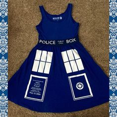 Tardis Dress Size small and excellent condition, only worn once!! Dresses Mini