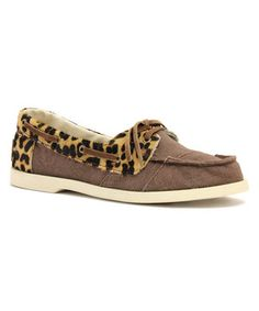 Loving this Brown & Leopard Cruiser Moccasin on #zulily! #zulilyfinds
