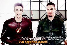 #stephen amell#grant gustin#the flash#arrow