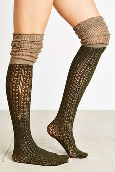 4f055470ca7 Tonal Scrunch Over-The-Knee Sock - Urban Outfitters Thigh High Socks