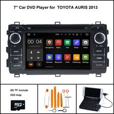 Quad Core Android 5.1 CAR DVD Player for TOYOTA AURIS 2013 car stereo car gps Capacitive touch screen 16GB Rom