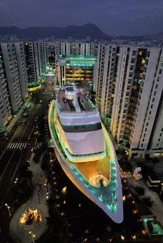 Shop on a ship on land at the Whampoa Shopping Center in Hong Kong